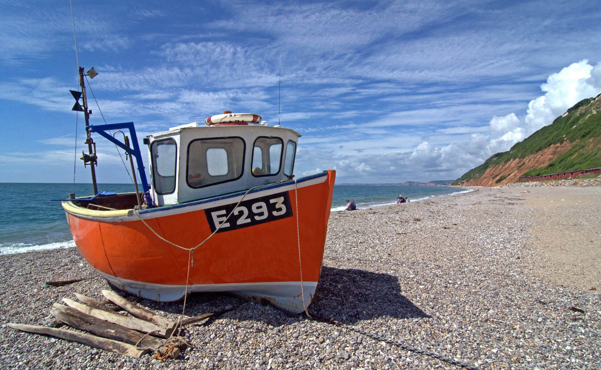 Boat at Branscombe - A different view of England